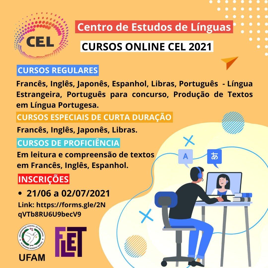 CEL abre inscrições para cursos on-line para o segundo semestre